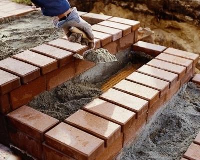 Изготовление лестницы для веранды из кирпича