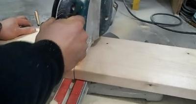 Нарезка ступеней из доски