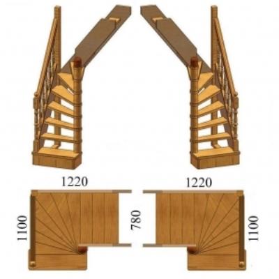 Право- и левосторонняя лестницы