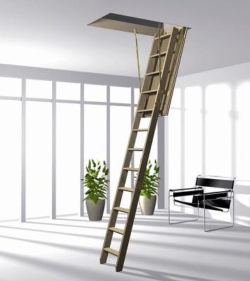 Деревянная складная лестница