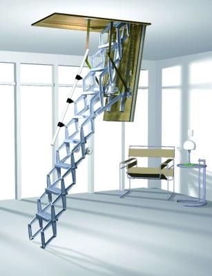 Складной тип лестницы с современным дизайном