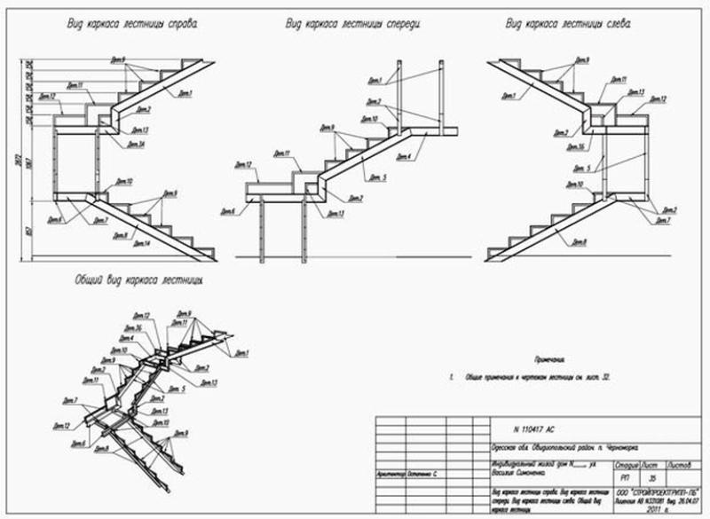 Стандартное лестничное сооружение из бетона