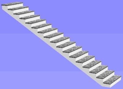 Лестница одномаршевая