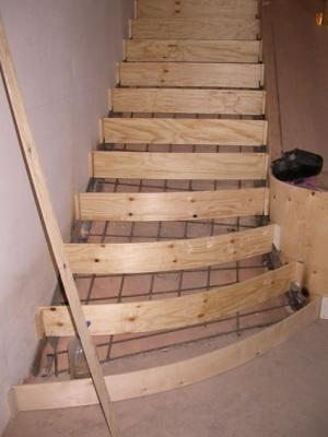 Бетонированное лестничное сооружение