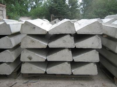 Бетонные ступени для стальных лестничных косоур