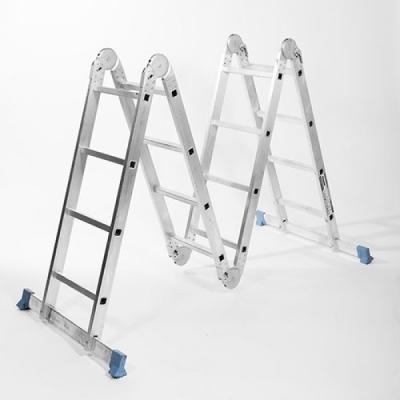 Лестница складная четырехсекционная 16 ступеней (4х4)