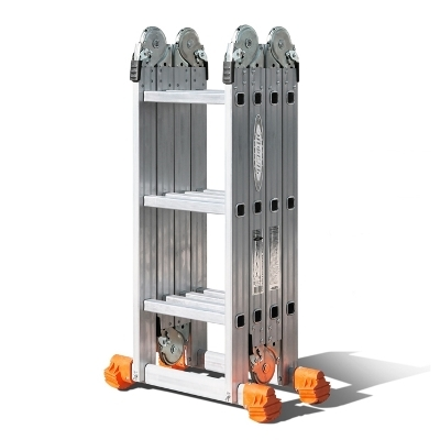 Лестница трансформер алюминиевая 4x3 в сложенном виде