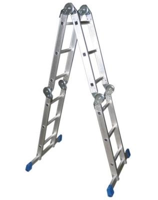 Лестница трансформер алюминиевая 4x3 в виде стремянки
