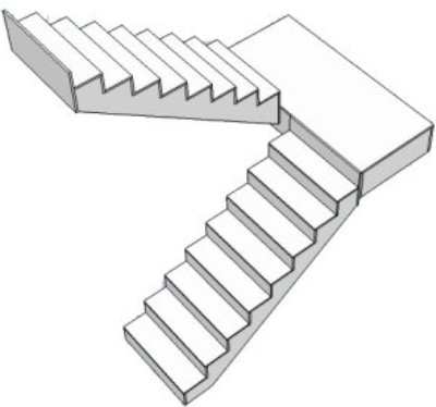 Лестница двухмаршевая