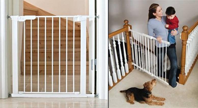 Как оградить лестницу от детей