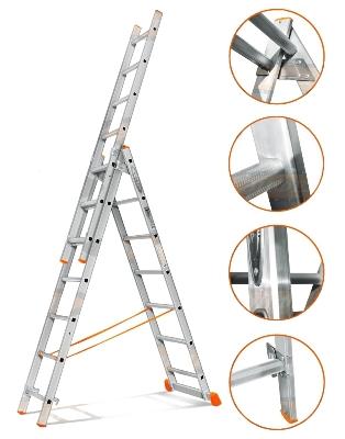 Удобство и надежность трехсекционных лестниц