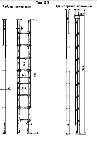 Схема пожарной лестницы