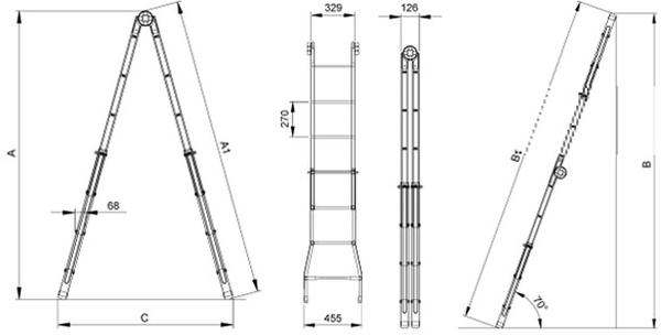 Металлический профильный каркас для внутренней лестницы