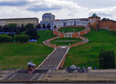 Нижегородская лестница в честь Чкалова