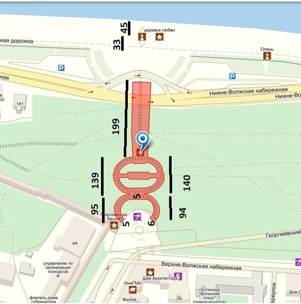 Схема Нижегородского лестничного марша