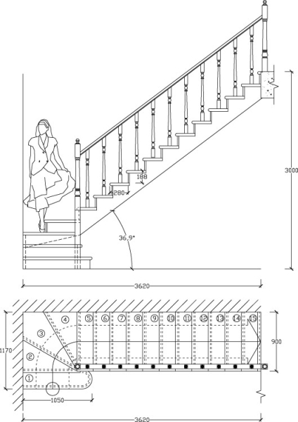 Лестничная установка в доме