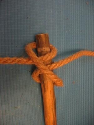 Лестница из веревки своими руками