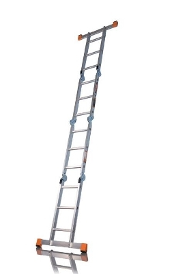 Лестница трансформер, разложенная во всю длину
