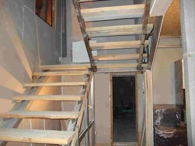 Обустройство П-образной лестницы
