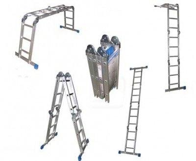 Телескопическая лестница на 4 секции