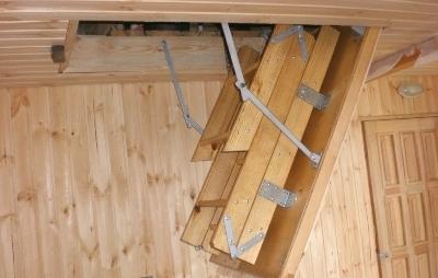Обустройство лестницы для чердака