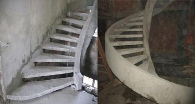 Лестничное устройство из бетона