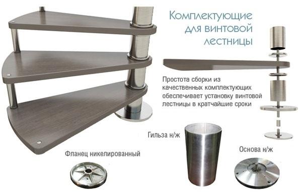 Стальная лестничная конструкция С-образного типа
