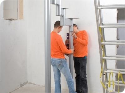 Винтовая лестница из металлоконструкций