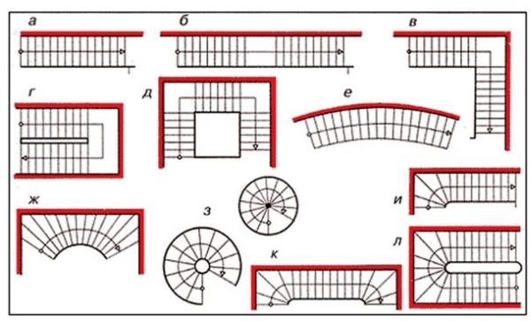 Варианты конструкций на чертеже