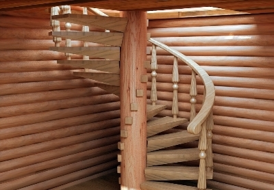 Винтовая лестничная конструкция