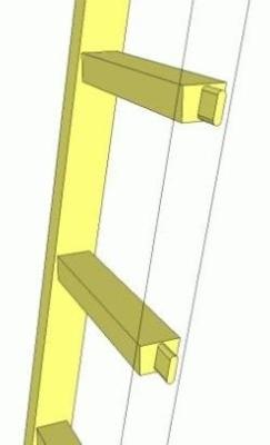 Самостоятельное изготовление приставной лестничной установки