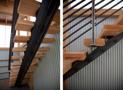 Лестничная конструкция на основе швеллера