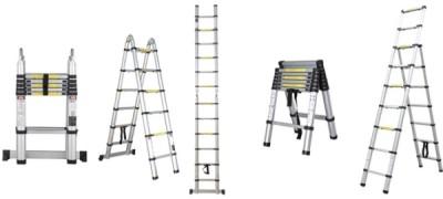 Использование двухсекционной телескопической лестницы