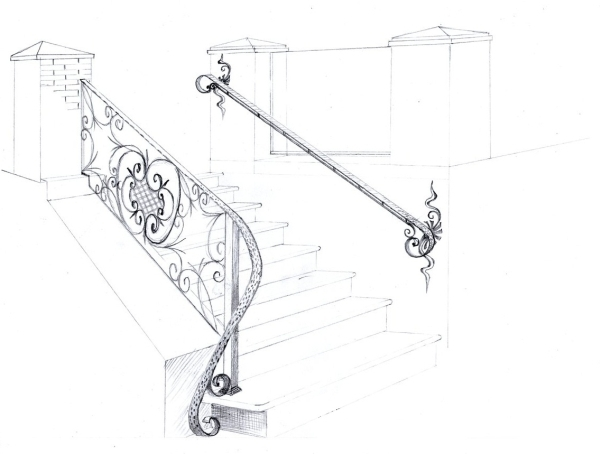 Лестничная установка из металла