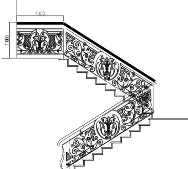 Стальное лестничное устройство