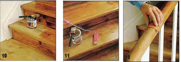 Нанесение лакокрасочного слоя на внутренние ступени