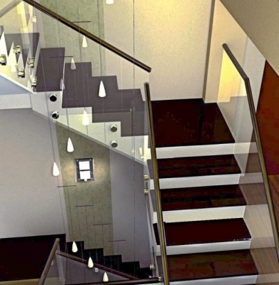 Окраска лестничной установки