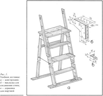 Лестничная установка для работы в саду