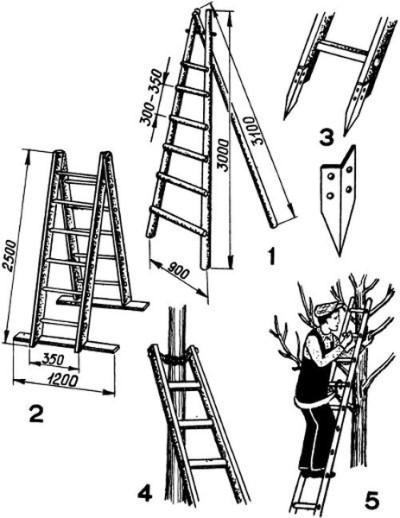 Высокая приставная лестница своими руками 4