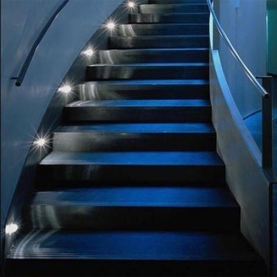 Точечные встроенные светильники для лестниц