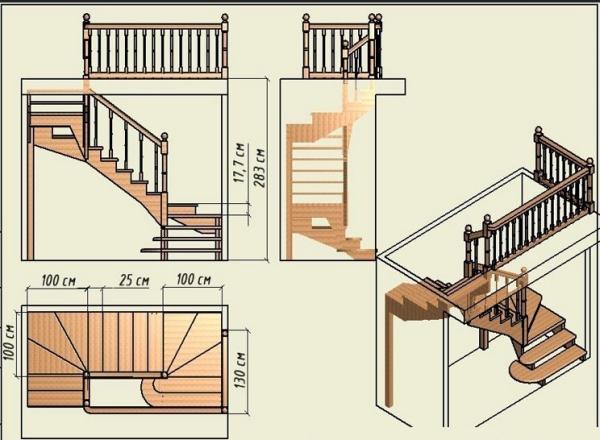 Разработка ступеней на второй этаж