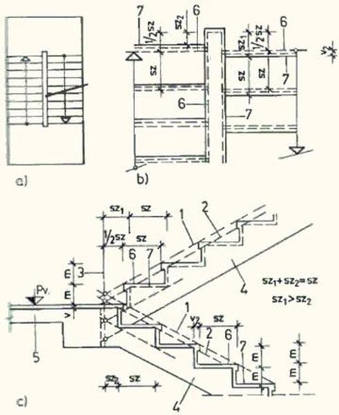 Разворотная лестничная конструкция для внутреннего обустройства