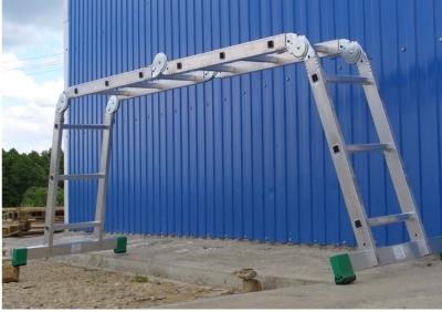 Телескопическая лестничная 4-х секционная установка