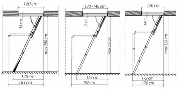 Складное лестничное сооружение для чердака
