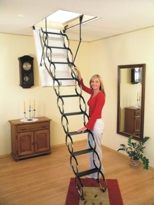Сборная лестничная установка для мансарды