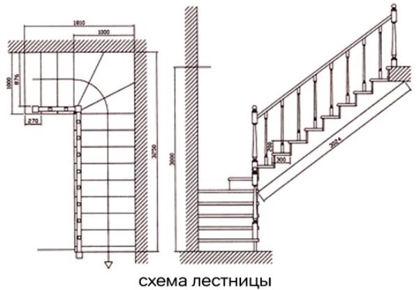 Лестничная установка между этажами