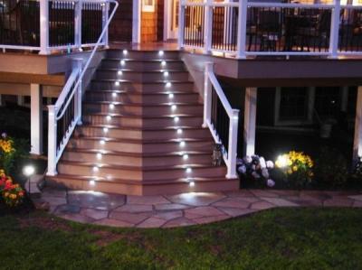 Лестница для установки на даче