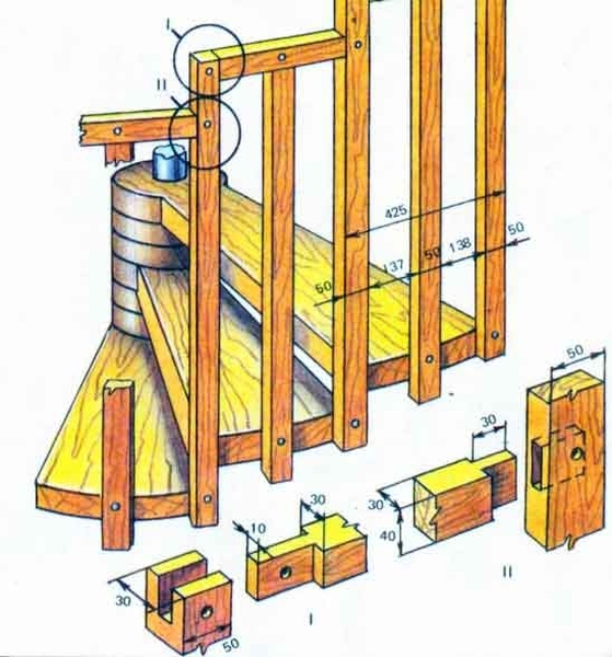 Лестничное сооружение на чердак