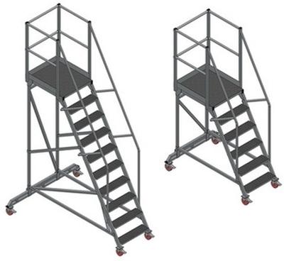Лестница передвижная, модель ЛС1
