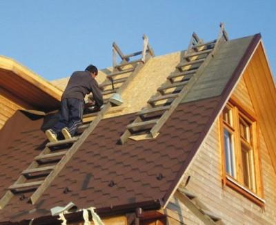 Самодельные лестницы для работы на крыше